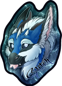 Personal - Glitch Toony Badge by TwilightSaint