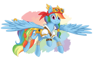 Pirate Rainbow by EepiArt