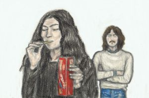 Yoko Ono eating George Harrison's biscuit by gagambo