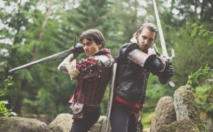 Hold this position/ Eskel/ Lambert Witcher Cosplay by KADArt-Cosplay