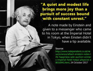 Einstien: A quiet and modest life quote by LauraSeabrook