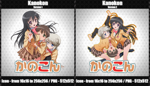 Kanokon -Anime Icon- by CrimsonNoise