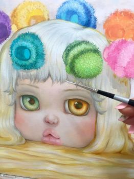 Bees Painting Wip by camilladerrico