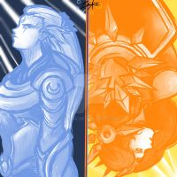 Diana and Leona - Night and Day by Zuske