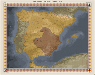 The Spanish Civil War - February 1939 by Xotaed