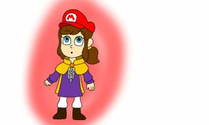 Hat Kid with Mario's Cap by rabbidlover01