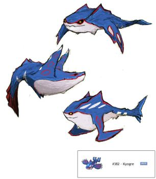 Kyogre Redesign Colored by MICHA3LT