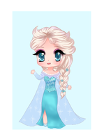 Chibi Queen Elsa by BunniMelodii