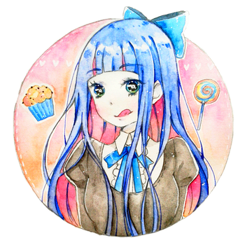 Stocking watercolor by Yennineii
