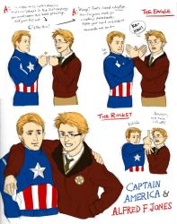 Captain America and Alfred F. Jones by bluestraggler