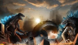 Battle of Godzilla by DoomGuy26