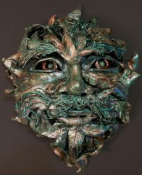 Green Man Mask by illmatar