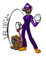 Waluigi and Walupup by kanchi
