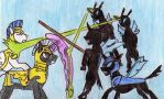 Battle for Canterlot by Kooskia