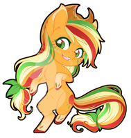 Rainbow Power Chibi Redux - Applejack by FuyusFox