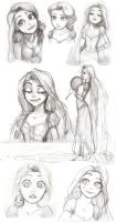 Tangled Sketch Dump by moxie2D