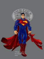 JLA Ultimate Superman colour by mistermoster