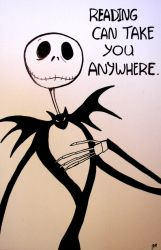 Jack Skellington Hand-Drawn Classroom Poster by jonmarkiewitz