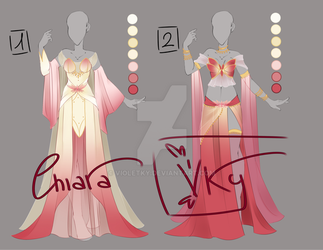 :: Adoptable Lotus Flower Outfit: AUCTION CLOSE :: by VioletKy