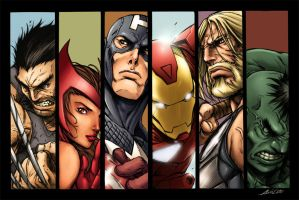 Avengers Alvin Lee colorFun by SpicerColor