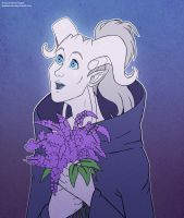 Pallas Portrait with Flowers by andrea-koupal