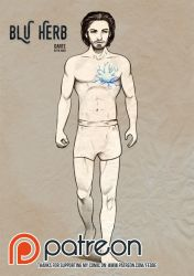 Blu Herb concept design Dante in the Nude by fedde