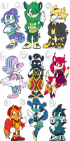 Sonic Adoptables 12 (closed) by AnettRuby