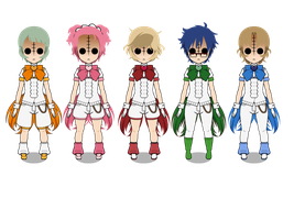 Cute High Earth Defense Club Dolls by AkiYoshida