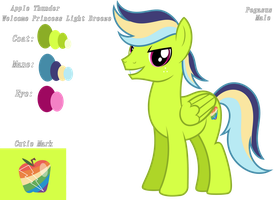 Apple Thunder (Color Guide) by KimmyArtMLP