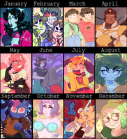 yearly art meme [ 2017 ] by dongoverlord