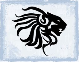 Tribal Lion by LASEED