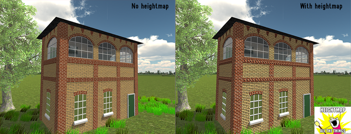 Signal Box and with heightmap by Jakhajay
