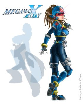 megaman X Lady -v4- by lost-royo
