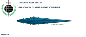 Union Falchion Class Light Carrier by EmperorMyric
