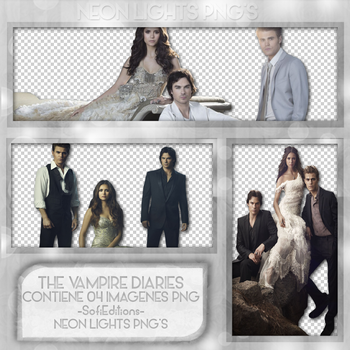 The Vampire Diaries PACK PNG - NeonLightsPNG'S by SoffMalik