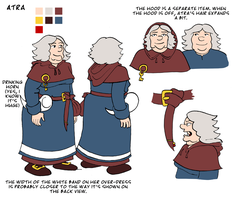 Atra model sheet by Reinder