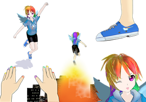 Rainbow Dash MMD Model by MoonTheBlueNeko