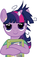 Twilight Sparkle and her Book by TheAmazingNoodle