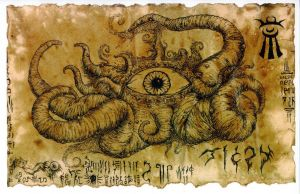 Shuma Gorath Scroll by hawanja