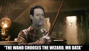 Mr Data gets a wand by akeel1701