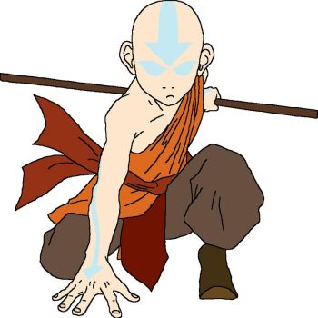 Aang in the Avatar State by Perseus605