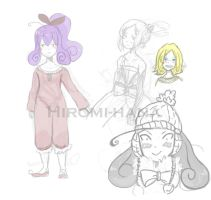 Sketch: Fairy Sorceress fashion hiver by hiromihana
