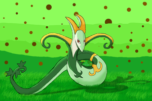 Serperior for a friend by bassmegapokemonlover