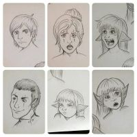 Revelation of Ula'ran: Sketch Dump 5 by Kiotoko-Solo
