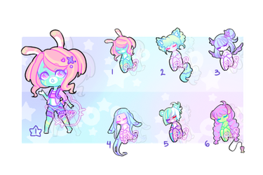 Adoptable Auction Batch 07 (CLOSED) by PixyPersephone