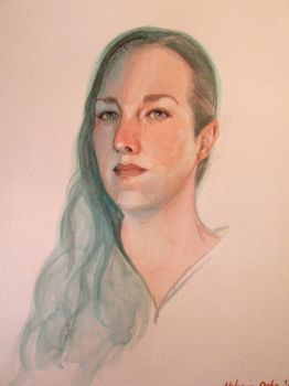 Self Portrait. Cobalt Turquoise  Cadmium Red by guernica2009