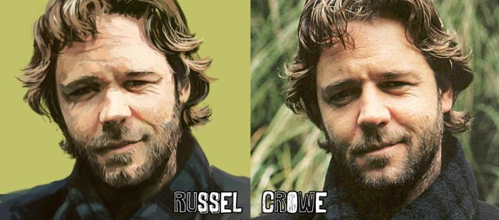 RUSSEL CROWE HEY by StolenKey