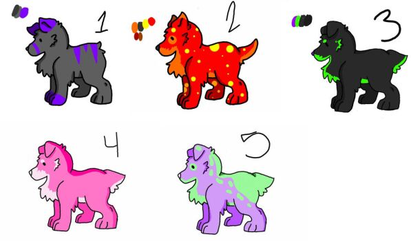 Dogs adoptables by Tori-dono