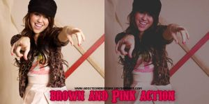 Brown and Pink action by adictiondesigns
