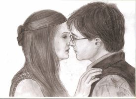Harry Potter and Ginny Weasley by MajaGantzi